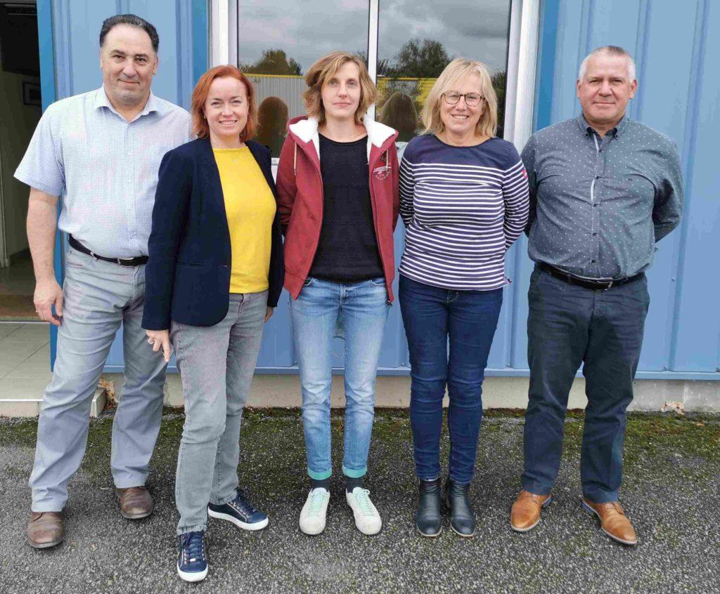 L'équipe projet Aegilops : Patrice MONNIER, Céline Gitton, Lucille Gratecap, Emmanuelle Moan et Marc Bonfils